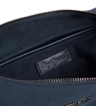 Pepe Jeans Borsa Patt cuore blu -28x20x14cm-