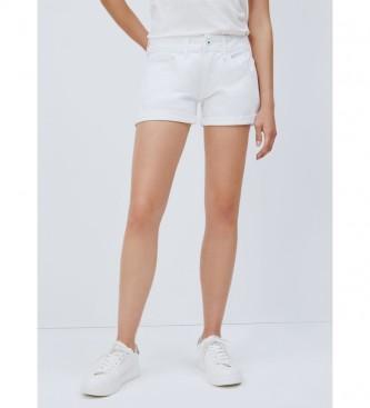 Pepe Jeans Pantaloncini di jeans bianchi Siouxie