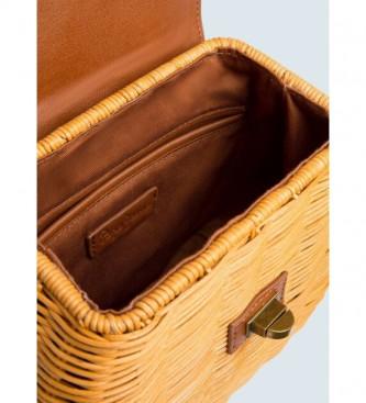 Pepe Jeans Xandra brown leather handbag