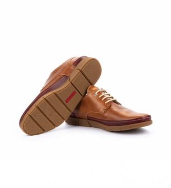 Pikolinos Zapatos de piel Palamos M0R marrón