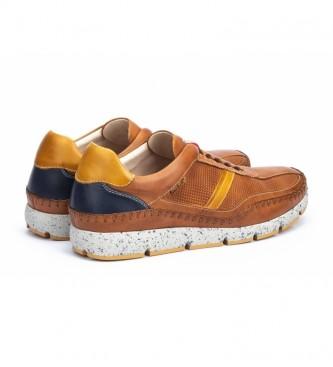 Pikolinos Sneakers Fuencarral M4U in pelle marrone