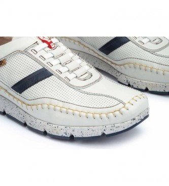 Pikolinos Fuencarral M4U white leather slippers