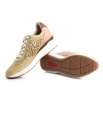 Pikolinos Sneakers Sella W6Z in pelle gialla