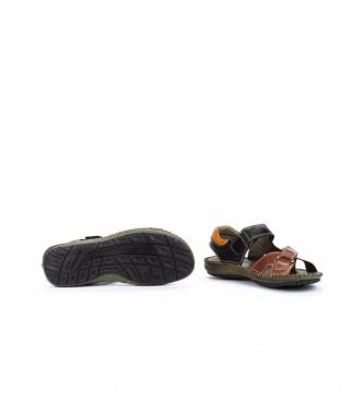 Pikolinos Sandálias de couro Tarifa 06J preto, castanho