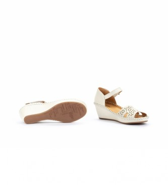 Pikolinos Sandálias de Couro Margarita 943 branco - Altura da cunha: 5cm