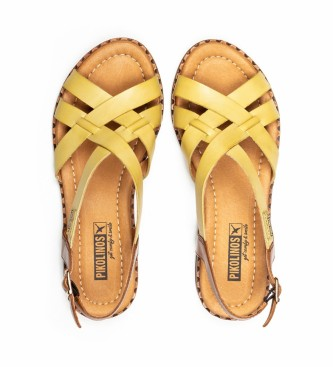 Pikolinos Sandali in pelle giallo Algar W0X