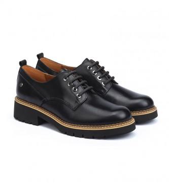 Pikolinos Chaussures en cuir noir Vicar
