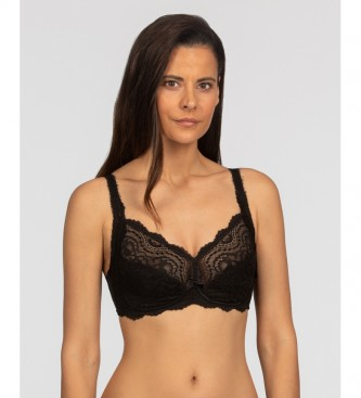 Playtex Black Sophisticated Floral Lace Non Underwired Bra
