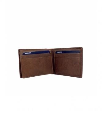 Privata Portefeuille en cuir MHPR84792 cuir -8x10,5x1cm