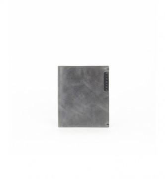 Privata Portefeuille en cuir MHPR20128 gris -10,5x8,5x1cm