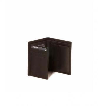 Privata Carteira de couro MHPR11498 castanho -11x8,5x1cm