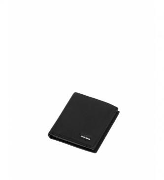 Privata Portefeuille en cuir MHPR11428 noir -10x8x1cm
