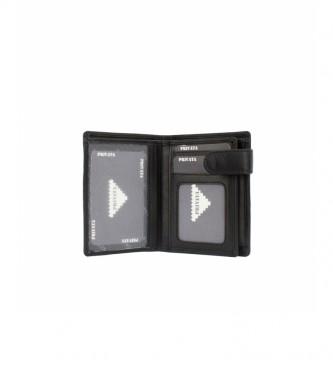 Privata Portefeuille en cuir MHPR82084 noir -11x8,5x1cm