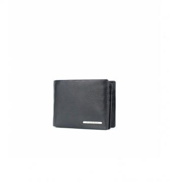 Privata Leather wallet MHPR82092 black -8x10,5x1cm