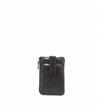 Privata Portefeuille en cuir MHPR82104 noir -7,5x11,5x1cm