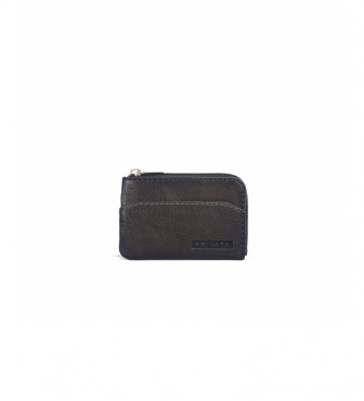 Privata Leather wallet MHPR84705 taupe -7x10,5x1cm