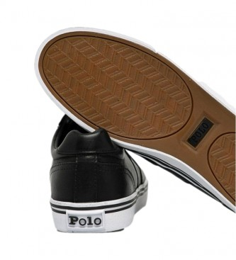 Ralph Lauren Zapatillas de piel Hanford Vulc negro