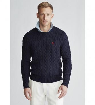 Ralph Lauren Pull tricoté en coton tressé
