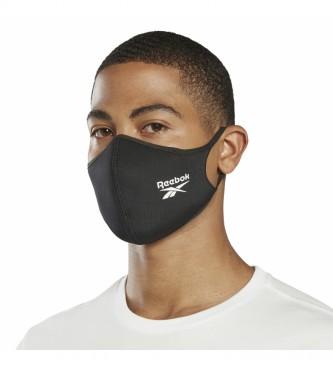 Reebok Confezione da 3 maschere nere grandi