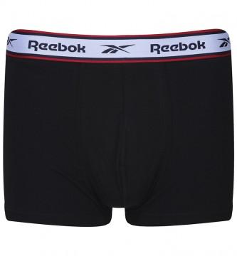 Reebok Pacote de 3 boxers Barlow preto, branco, marinho