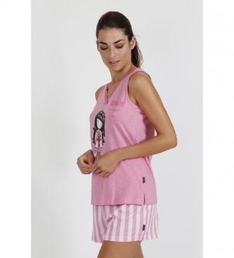 Santoro Pyjama à bretelles Goodnight Straps Gorjuss rose