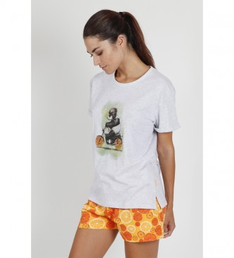 Santoro Pyjama à manches courtes Panda blanc