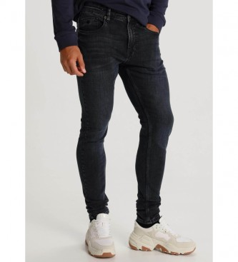 Six Valves Pantaloni blu navy Dirty Denim