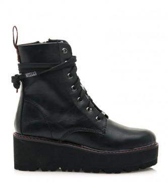 Mustang Vasey boots black - wedge height: 6cm