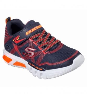 Skechers Zapatillas Flex - Glow marino, rojo