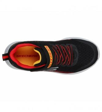 Skechers Microspec shoes - Black, red cap