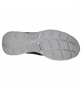 Skechers Pantofole in pelle Satisfation - Flesh Point nere