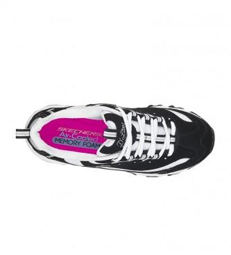 Skechers D'Lites Biggest Fan tênis de couro preto