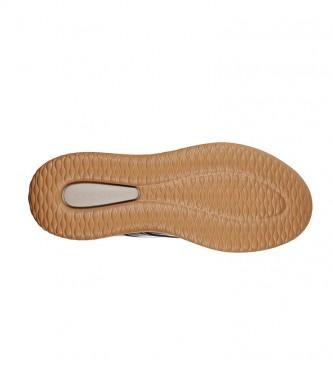 Skechers Baskets en cuir Delson Antigo noir