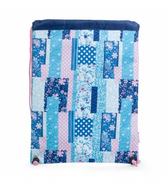 Skpat Printed Polyester Sack Style Backpack130041 blue -30x40x1cm