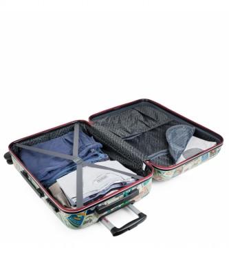 Skpat Set of 2 suitcases Kiev 130500 green, multicolour - 44x67x24cm