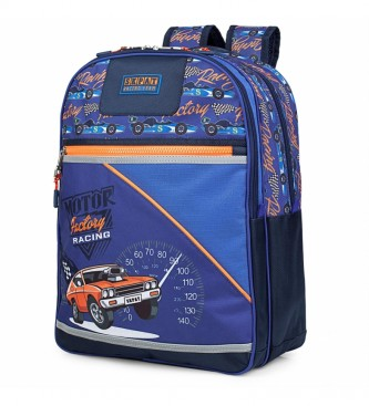 Skpat Padded and Printed Children's Backpack 130901 blue -42x33x15cm