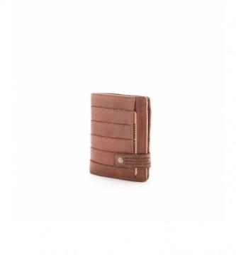 Stamp Portafoglio d epiel MHST00298CU marrone -11x9x2cm-