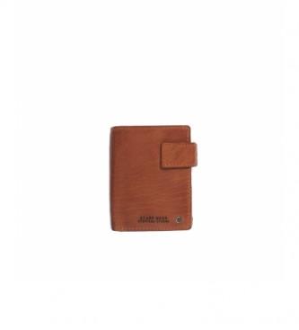 Stamp Carteira de couro MHST00479CU castanho -10x8x1cm