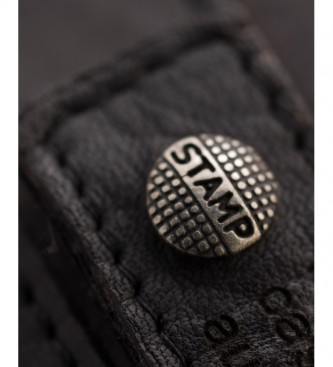 Stamp Billetero de piel MHST00298NE negro  -11x9x2cm-