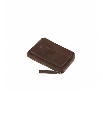 Stamp Borsa in pelle MHST00040MA marrone scuro -7,5x11x1cm-