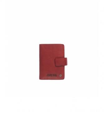 Stamp Tarjetero de piel MHST00045RO rojo -10x7x1cm-