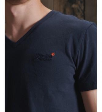 Superdry T-shirt classica con scollo a V Collezione Orange Label navy