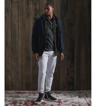 Superdry Pantaloni da jogging classici della collezione Orange Label grigio chiaro