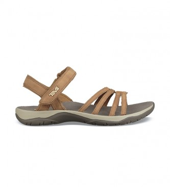 Teva Elzada Lea brown leather sandals