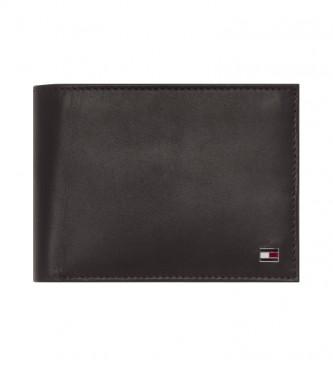 Tommy Hilfiger Carteira Eton CC Flap Coin Pocket castanho -13x9,5x3cm