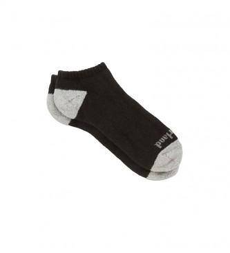 Timberland Pacote de 2 meias de Algodão/Poly No Show preto