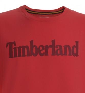 Timberland Camiseta K-R Brand Linear T rojo