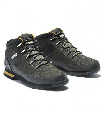 Timberland Euro Sprint botas de tecido verde-escuro