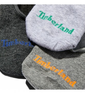 Timberland 3-pack Core Invisible Sock W Gripper cinza