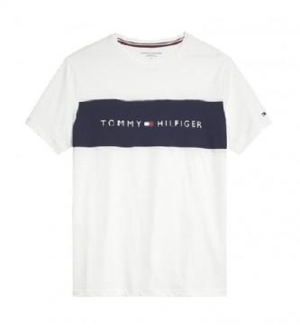 Tommy Hilfiger CN SS Logo Flag T-shirt bianca